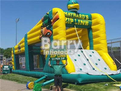Funny Inflatable Zip Line/Commercial Inflatable Ropeway For Adults and children  BY-IS-050