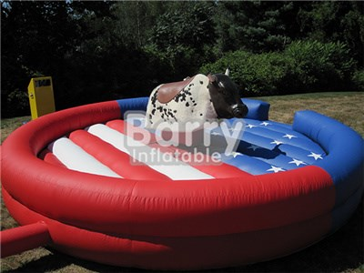 China Competitive Price Amazing Red Inflatable Mechanical Bull For Sale  BY-IS-008