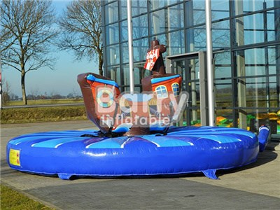 Hot Sell Inflatable Pull Riding Pirateship, Inflatable Sport Game For Sale BY-IS-057