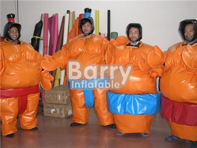 Commercial Orange Inflatable Sports Games/ Sumo Suits Sumo Wrestling For Sale BY-IS-070