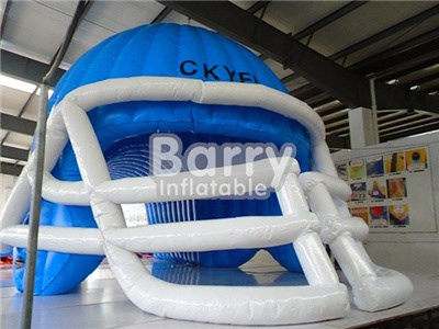 China best factory blue inflatable football helmet tunnel for event BY-IS-038