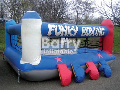 Guangzhou Factory Sport Game Inflatable Boxing Arena With Oversized Boxing Gloves  BY-IS-041