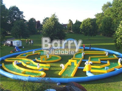 Popular Crazy Inflatable Golf Game, Inflatable Golf Race Field, Inflatable Arena Factory BY-IS-013