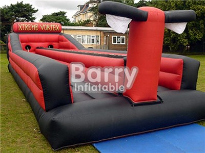 Cheap Price Commercial 2 Lane Red Color Inflatable Bungee Run For Kids BY-IG-022