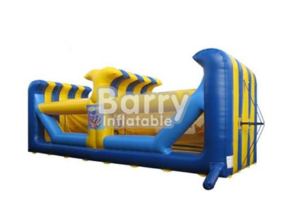 China cheap rapid fire inflatable bungee run race, inflatable double bungee run interactive sport games BY-IG-024