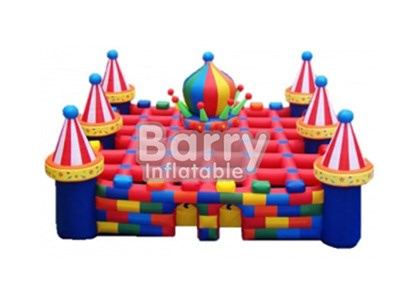 Giant Outdoor Inflatable Obstacle Course Castle Inflatable Maze For Sale BY-IG-037