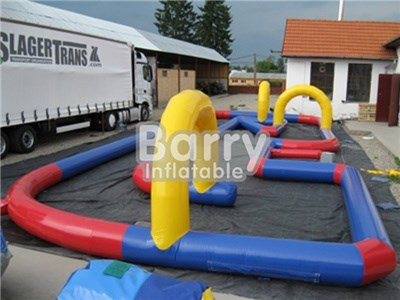 Cheap Adult Kids OEM Inflatable Tracks Karting Track 20x7m BY-IG-050