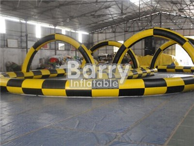 Inflatable Zorb Ball Race Track/Go Kart Racing Track For Sporting Events  BY-IG-053