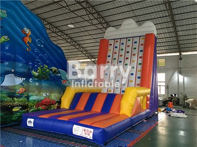 Guangzhou factory inflatable sport games inflatable rock climbing wall for sale  BY-IG-055