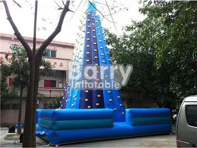 China Outdoor Inflatables Toys Blue Inflatable Rock Climbing Wall For Sale  BY-IG-057