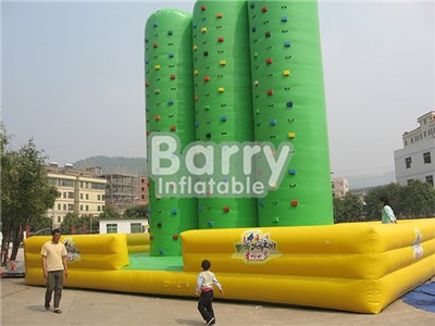 Kids And Adult Customized 3 Inflatable Climbing Wall For Entertainment BY-IG-011