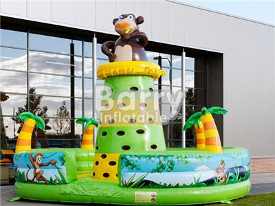 0.55MM PVC durable jungle monkey inflatable climbing tower  BY-IG-058