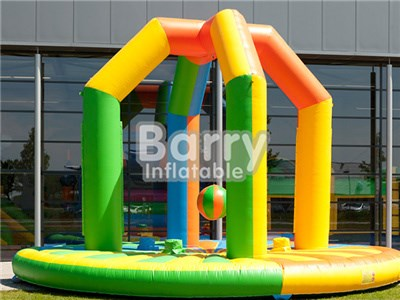 Commercial Yellow Inflatable Swing Him Off Game,Inflatable Wrecking Ball BY-IG-062