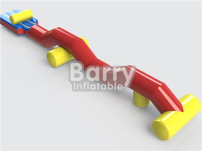 0.9mm PVC Material Inflatable Aqua Run Water Obstacle Course For Kids BY-AR-014
