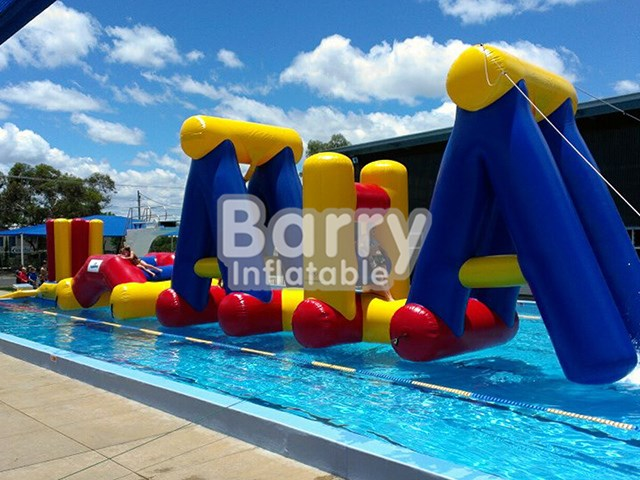 China Inflatable Water Obstacle Course, Jump And Run Pool Float Giant Inflatable Obstacle BY-AR-002