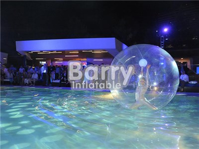 Customized clear inflatable water walking ball,LED dacing walking ball BY-Ball-007