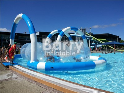 PVC Material Fashionable Water Balls , Inflatable Water Walking Balls With Track On Pool BY-Ball-023