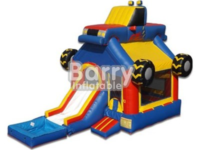 0.55mm PVC kids car bounce houses and waterslides for sale BY-IC-002