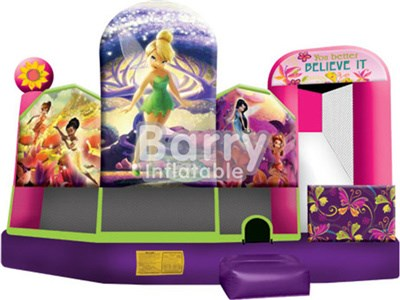 Commercial Mutiplay 4 in 1 Inflatable Bounce House With Printing BY-IC-009
