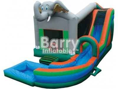 Commercial water slide elephant bounce house with pool China manufacturer BY-IC-008