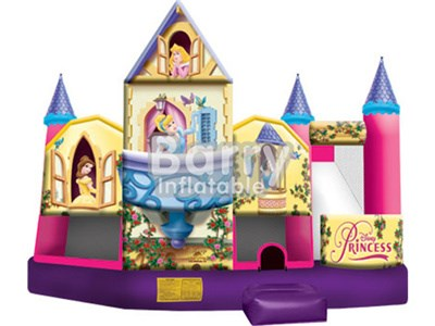 Best price Children 5 in 1 princess castle slide bounce house BY-IC-004