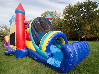 China factory PVC material large inflatable slide with bounce house BY-IC-027