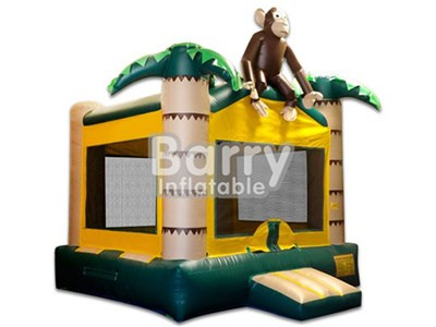 Small Monkey Inflatable Jungle Bounce for Kids with Safety Net BY-BH-015