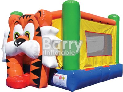 Make in China custom indoor/outdoor tiger inflatable bounce house BY-BH-002
