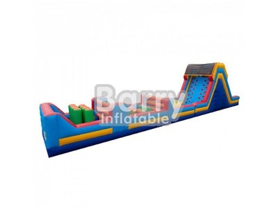 Guangzhou cheap inflatable obstacle course with climbing wall fo sale BY-OC-019