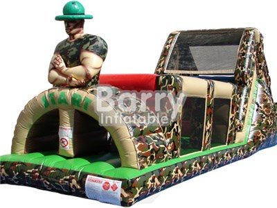 Cheap army inflatable obstacle course,military obstacle course BY-OC-001
