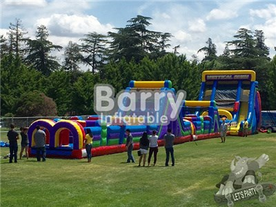 Outdoor playground big inflatable beast obstacle course on land BY-OC-004