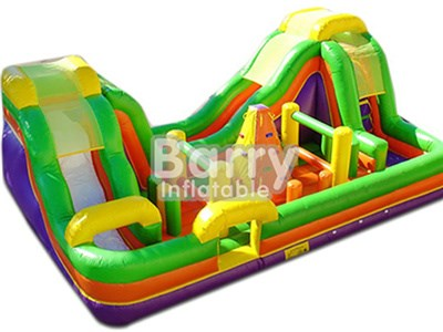 Good price wholesale outdoor inflatable obstacle course combo slide for sale BY-OC-005
