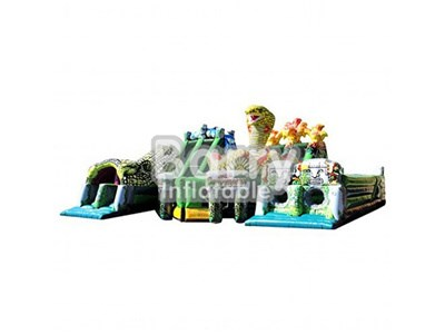 Outdoor Inflatable snake obstacle,commercial inflatable obstacles course price BY-OC-006