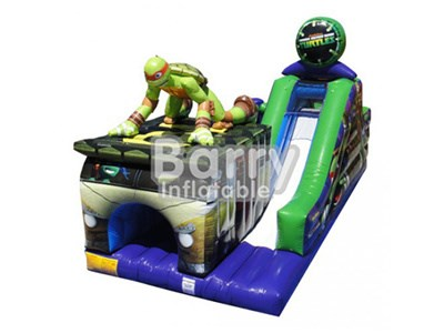 China top quality supplier tmnt inflatable obstacle courses for event BY-OC-007