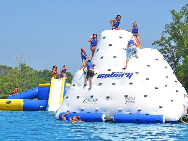 Water Park 0.9mm PVC Inflatable Iceberg Water Toy,Cheap Inflatable Iceberg Floating BY-WT-004