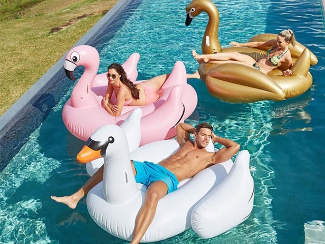 Customized giant inflatable water toys PVC inflatable swan pool float BY-WT-005