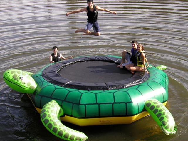 PVC Tortoise Inflatable Water Trampoline, Inflatable Sea Trampoline, Inflatable Aquatic Trampoline For Sale BY-WT-013