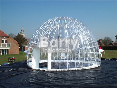 Durable 1.0mm PVC/TPU outdoor inflatable bubble room,clear bubble tent for sale BY-IT-020