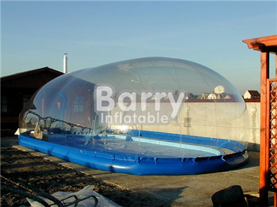 Outdoor complete transparent inflatable pool cover from China manufacturer BY-IT-004