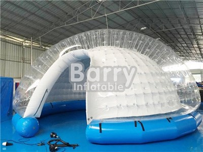Guangzhou factory translucent inflatable balloon tent camping bubble  BY-IT-023