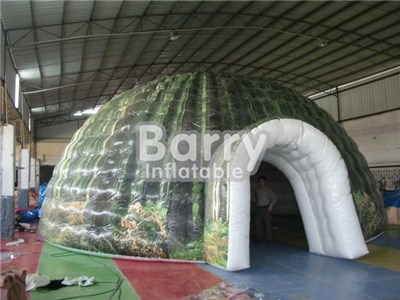 Commercial logo printing giant inflatable dome tent with good price BY-IT-010