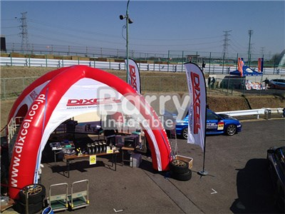 Outdoor commercial red inflatable advertising tent, inflatable spider tent for sale BY-IT-007