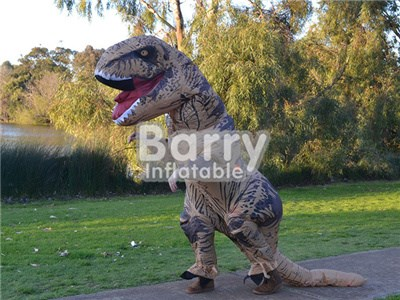 Factory price giant dinosaur costume t rex inflatable walking dinosaur costume BY-AD-004