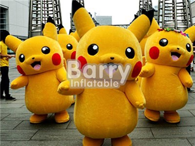 Wholesale adult or kids inflatable pikachu mascot costume animal costume manufacturer BY-AD-005
