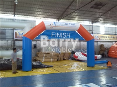 Cheap inflatable arch for sale,blue inflatable finish line arch for race event BY-AD-006