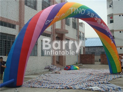 Customs size PVC cheap price inflatable rainbow arch for adversting BY-AD-007