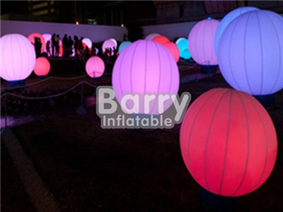 Amazing inflatable led balloon with stand/ led light ball for decoration BY-AD-010