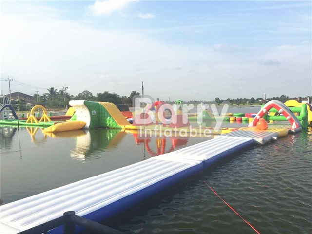 Successful Case Animal Theme Sharp Inflatable Water Park To Thailand