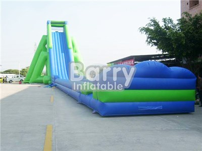 Best quality Green Steep Inflatable Water Slide , Big Slides For Sale BY-GS-005