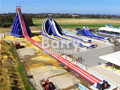 0.55mm PVC Giant Commercial Grade Inflatable Super Slide , The World Largest Slide BY-GS-006